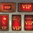 Set of gold vip cards — Stockfoto