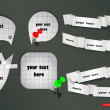 Vector paper elements with stationery — Stock Vector #9843878