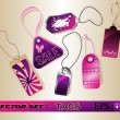 Vector set of tags — Imagen vectorial