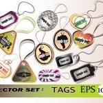 Tags vector set — Stock Vector