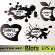 Blots vector set — Stockvectorbeeld