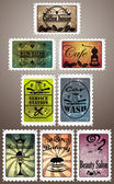 Vintage post stamps — Stock Vector