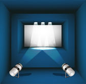 Vector gallery with spotlights — Stock Vector