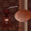 Coffee mill with coffee beans brown — Stockvectorbeeld