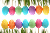 Easter decoration with Easter eggs — Stock Photo