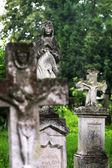 Monument on cemetery — Stock Photo