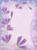 Wenskaart met roze bloemen — Stockvector