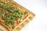 EDZR - Cheese, banana, ham, onion and arugula pizza — Stock Photo