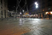 Night scene in gothic quarter, Barcelona, Spain — Stock Photo