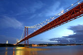 Lisbon Bridge - April 25th, Old Salazar Bridge, Portugal — Stock Photo