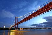 Lisbon Bridge - April 25th, Old Salazar Bridge, Portugal — Stock Photo