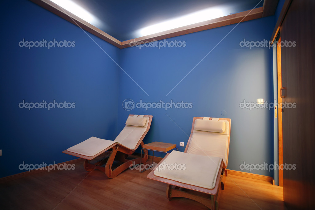 Spa and wellness hotel resort indoor room for relaxation  Stock Photo #9639594
