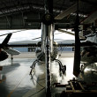 Helicopter hangar - Stock Photo