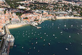 Cascais bay from the sky — Stock Photo