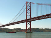 "Portugal Lisbon Belem District ""Ponte 25 do Abril"" - ""25th of Ap — Stock Photo"