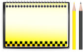 Transport background with notepad and taxi sign — Stock Vector