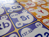 Peiodic Table of elements — Stock Photo