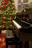 Christmas Piano — Stock Photo