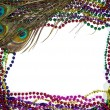 Royalty-Free Stock Photo: Mardi Gras Peacock Feathers
