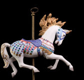 Colorful Carousel Horse — Stock Photo