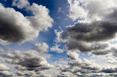 Colourful white clouds in the blue sky — Stock Photo