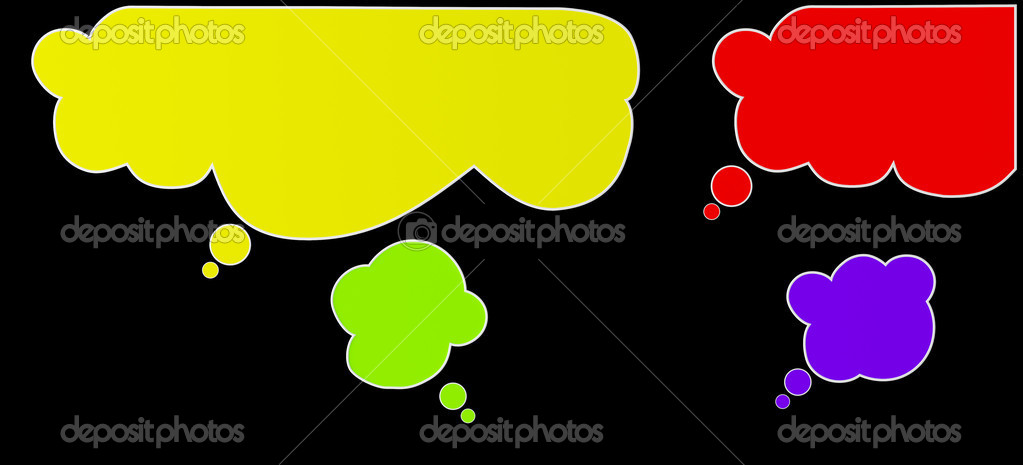 Colourful color bubbles for speech and communication — Stock Photo #9805821