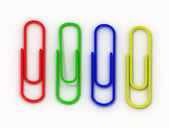 Isolated writing paper clips — Stock Photo
