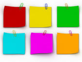 Color paper leaflets — Stock Photo