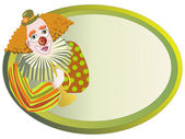 Red-haired clown vector — Stock Vector