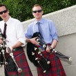 Stock Photo: Bagpipe duo