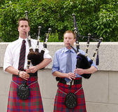 Bagpipe Players — Stock Photo