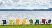 Lakeside Chairs — Stock Photo