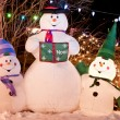 Snowman Trio — Stock Photo
