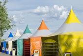 Renkli çadırları — Stok fotoğraf