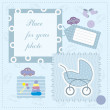 Stock Vector: Frame for baby's photo