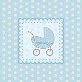 Greeting card for baby boy — Stock Vector