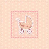 女の赤ちゃんのためのグリーティング カード — ストックベクタ