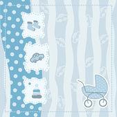 Erkek bebek için tebrik kartı — Stok Vektör