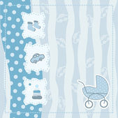 Greeting card for baby boy — Stock vektor