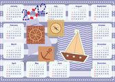 小さな船乗りの 2012 年カレンダー — ストックベクタ