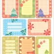 Stock Vector: Collection of christmas tags for scrapbooking