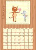 Calendar month of February 2012 — Stock Vector