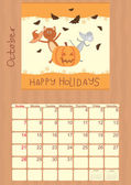 Calendar for October 2012 — Cтоковый вектор
