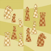 Background with stylized chess pieces — Stock Vector