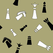 Seamless pattern with chess pieces — Stock Vector