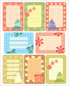 Collection of christmas tags for scrapbooking — Stock Vector