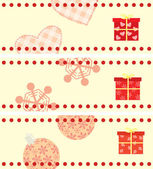 Set of Christmas cards with a gifts horizontal format — Stock Vector