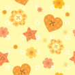 Stock Vector: Sunny funny little buttons seamless pattern