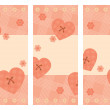 Royalty-Free Stock Imagen vectorial: Collection of vertical Valentine cards