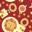 Royalty-Free Stock Vector Image: Seamless pattern for lunch